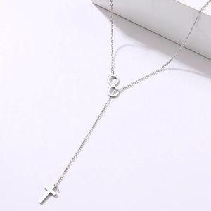 Dainty Cross Shape Link Necklace